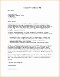 Sample Cover Letter For In A School 8 Formal Letter To Principal Model Resumed