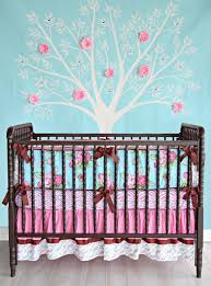baby nursery large size funky rose bumper less crib bedding baby girl caden lane londyn baby furniture for less