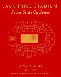 Isu Stadium Seating Chart Jack Trice Stadium Seating Chart Iowa State Cyclones Sign Iowa State Decor Iowa State University Gift For Cyclones Fan Vintage Art