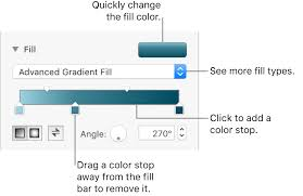 Excel Surface Chart Color Gradient Fill Objects With Color Or An Image In Pages On Mac Apple