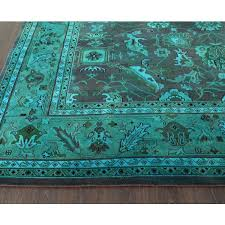 rugsville overdyed peacock rug 12232 peacock rug d80 peacock