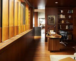 deluxe wooden home office. Wooden Home Office. Slats Bring Light Into The Modern Office With A Live Deluxe H