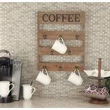 Organize your kitchen with this utensil holder! Wall Mounted Coffee Mug Holder Wayfair