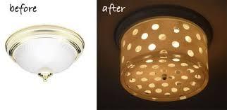 skillful diy ceiling light makeover stylish ideas brass flush mount