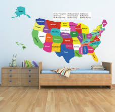 usa map vinyl wall decals murals n epic united states wall decal