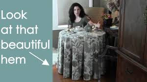 round tablecloth make and sew how to renee romeo