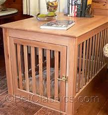 wooden dog crate furniture. Wood Dog Crate End Table - Solid Oak, Natural Finish Wooden Furniture E