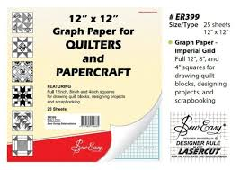 Templates Sew Easy Quilters Graph Paper 12 X 12 25 Sheets By