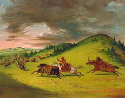 battle between sioux and sac and fox by george catlin