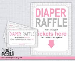 raffle sign pink dotted diaper raffle tickets and table sign baby shower