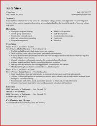 Social Worker Resume Sample Resume Examples social Work Awesome Summary Resourceful social 49