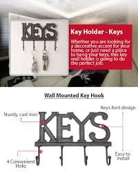 Wall Key Holder Amazoncom Key Holder Keys Wall Mounted Key Hook Rustic