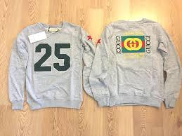 Gucci Men S Shirt Size Chart Gucci Womens Cotton Sweatshirt Size Small Fashion