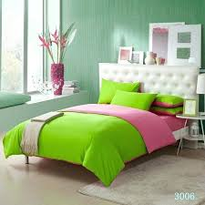 pink and lime green bedding solid color set duvet cover