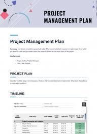 Project Management Plan Template Bit Ai Document Collaboration