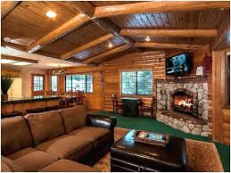 Log Cabin Living Room Concept Best Decoration