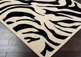 black and white zebra rug animal print