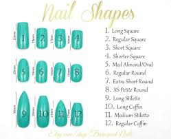 Acrylic Nail Size Chart Our Super Handy Guide To Acrylics Lesalon
