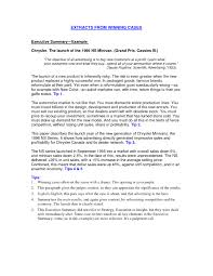 Non Profit Resume Executive summary example resume gallery of how write an non 85