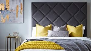 Create A Headboard Feature Wall With This Davenport Bed In Wolf Grey  Fabric, From £