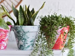 how to make marbled terra cotta pots