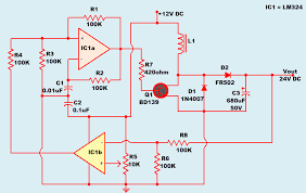 dc to dc converter operating principle and functionality dc 12v to 24v converter circuit diagram