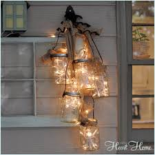 diy outdoor mason jar light