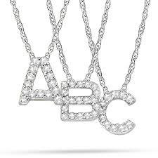 petite pave diamond initial pendant necklace 14k white gold letter j clear618