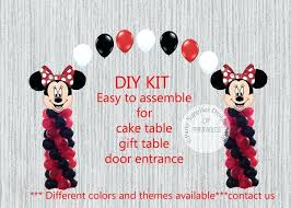 Red Black Minnie Mouse Centerpieces Red Mouse Balloon Arch Columns