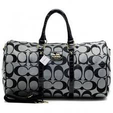 Coach Bleecker Monogram In Signature Large Grey Luggage Bags AFM
