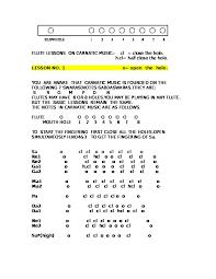 8 Hole Carnatic Flute Finger Chart Flute Lessons On Carnatic Music 1 1 Vnd5zz73dwlx