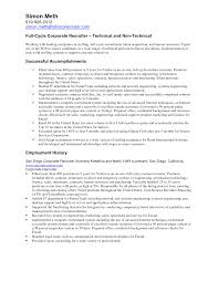 Campus Recruiter Sample Resume Recruiter Sample Resume Sugarflesh 4