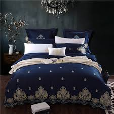 Egyptian cotton Duvet cover quilt cover set bedding sets modern ... & Egyptian cotton Duvet cover quilt cover set bedding sets modern Embroidery  design bed sheet nordic flat Adamdwight.com