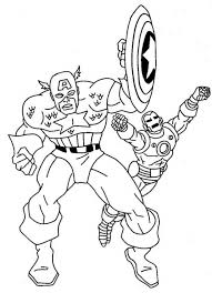 Small Picture Get This Captain America Coloring Pages Marvel Avengers 95735