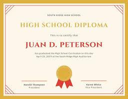 Customize 325 High School Diploma Certificate Templates Online Canva
