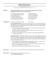 Cover Letter Marketing Resume Sample Business Marketing Resume