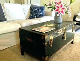 old trunk coffee table vintage stylish steamer home design ideas for cut tree
