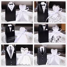 <b>50pc Bride</b> + <b>50pc Groom</b> Elegant Candy Boxes For <b>Wedding</b> Sweet ...