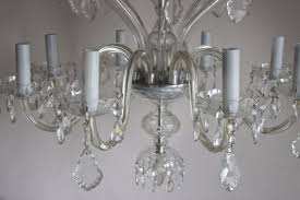 bohemian crystal chandelier mid 20th c picture 2