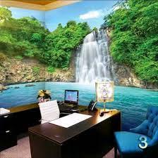 Wallpaper Air Terjun Dinding 3d ...