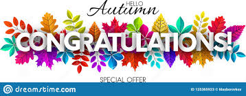 Congratulations Poster Hello Autumn Congratulations Banner With Colorful Leaves