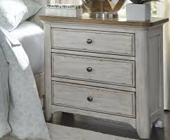 antique white nightstand. Farmhouse Reimagined Antique White 3 Drawer Nightstand -