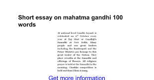 short essay on mahatma gandhi words google docs