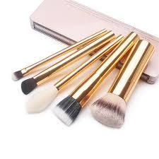 luxury high end metal makeup brushes set airbuki foundation powder blush eye blending concealer make up brush gold makeup foundation best makeup s