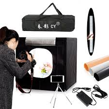 cy 60 60cm led photo studio light tent softbox shooting light tent soft box