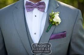 Light Purple Tuxedo Vest Groom With Grey Tux Purple Bowtie And Mini White Rose