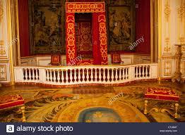 Das Schlafzimmer Von Louis Xiv Im Chateau De Chambord Im Loire Tal