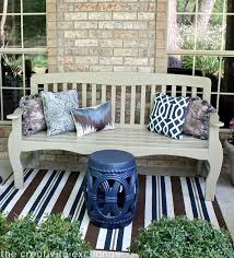 bench spray painted in rustoleum fossil satin the creativity exchange