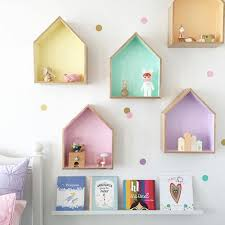 wooden house furniture. 2pcs/Lot INS Nordic Style Wooden House Shelf Wall Decor DIY Hanging Doll Houses Furniture For Children Kids Room Ornaments-in Toys From