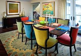 bright coloured dining room chairs colorful table kitchen with wooden cream colored colorf mustard colored dining room